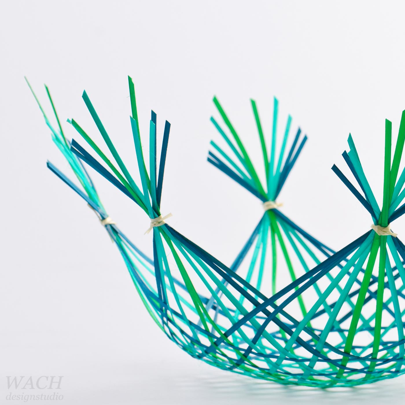 Studio Photography of Gradient Basket designed by WACH designstudio for Hanoi Design Centre and Vietcraft