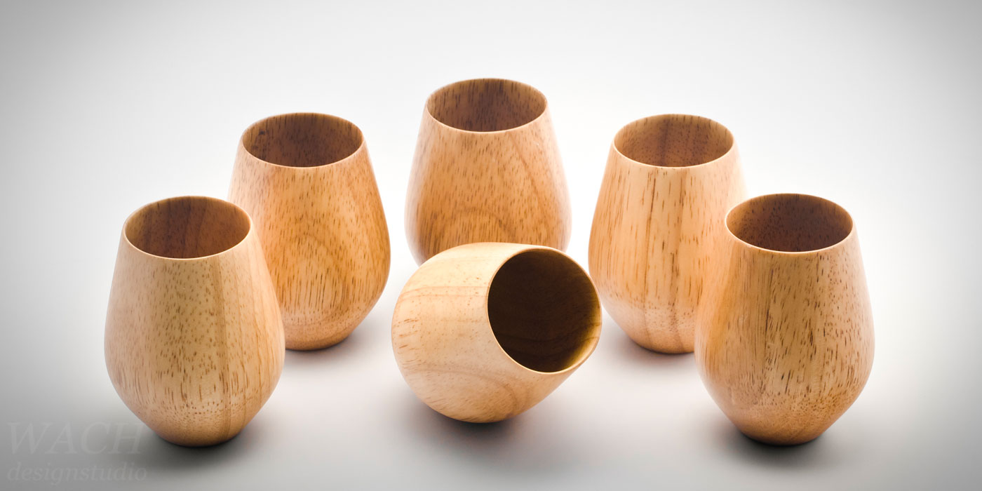 Wooden cups crafted by experienced vietnamese craftsmen