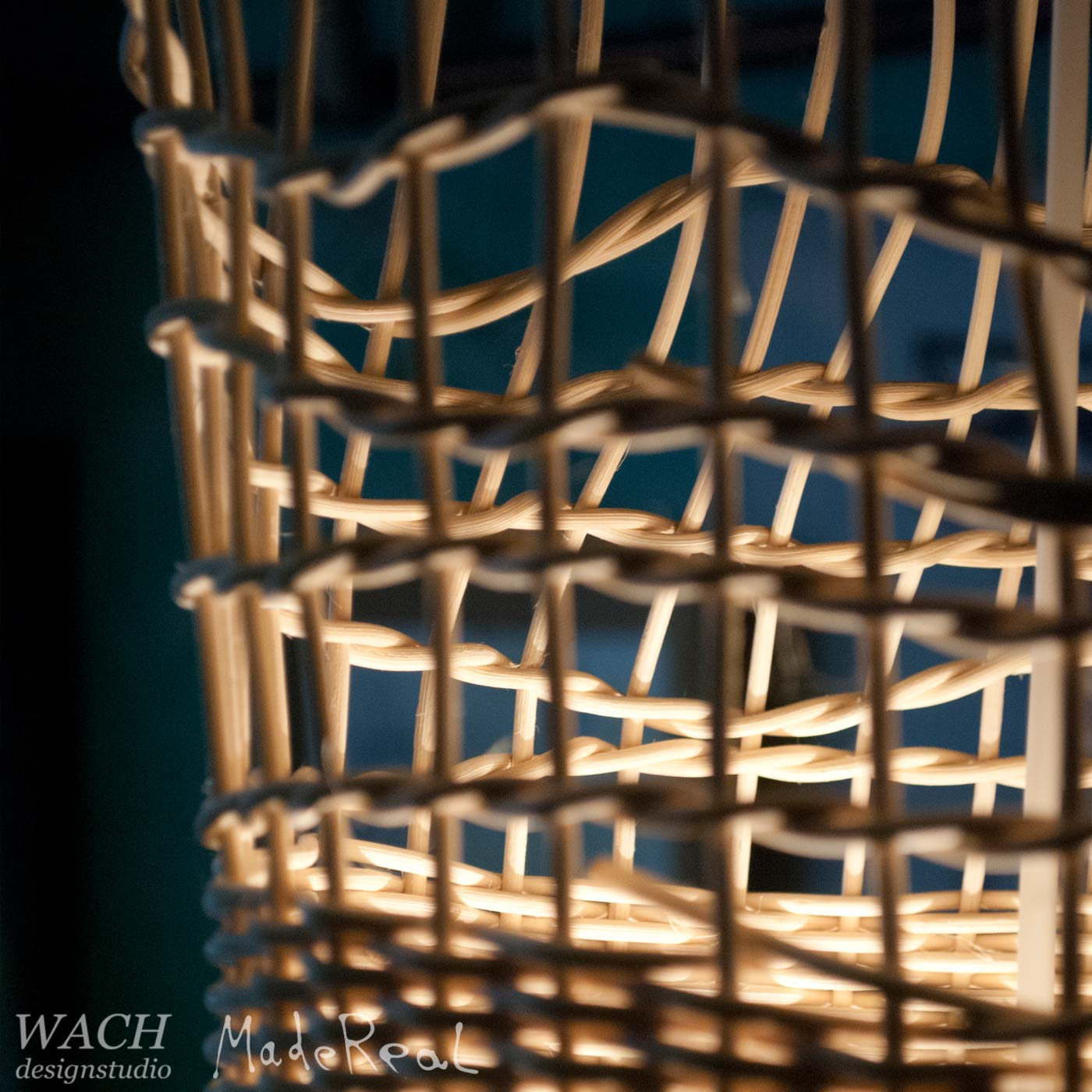 Detailed view of MadeReal Lampa weaving by Fred Jacob