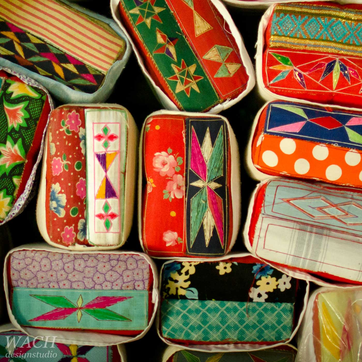Collection of traditional vietnamese cushion