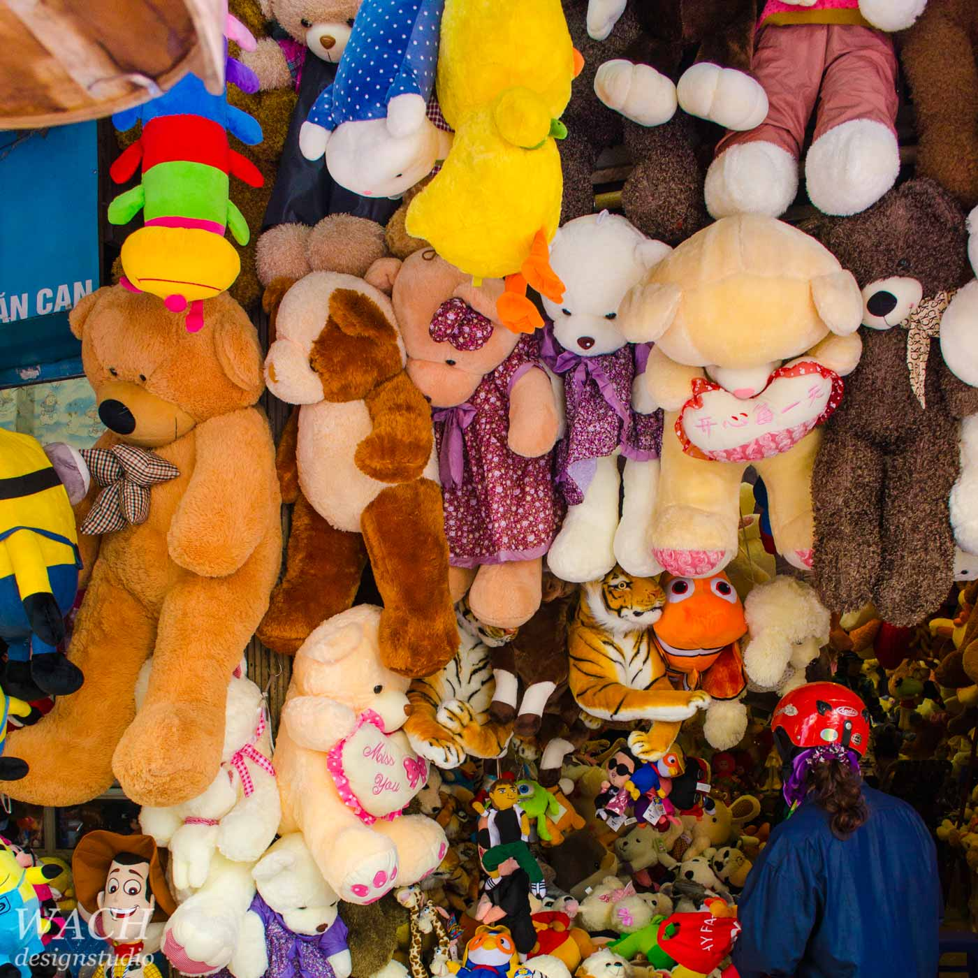 Store in Hanoi Vietnam jam-packed with stuffed animals