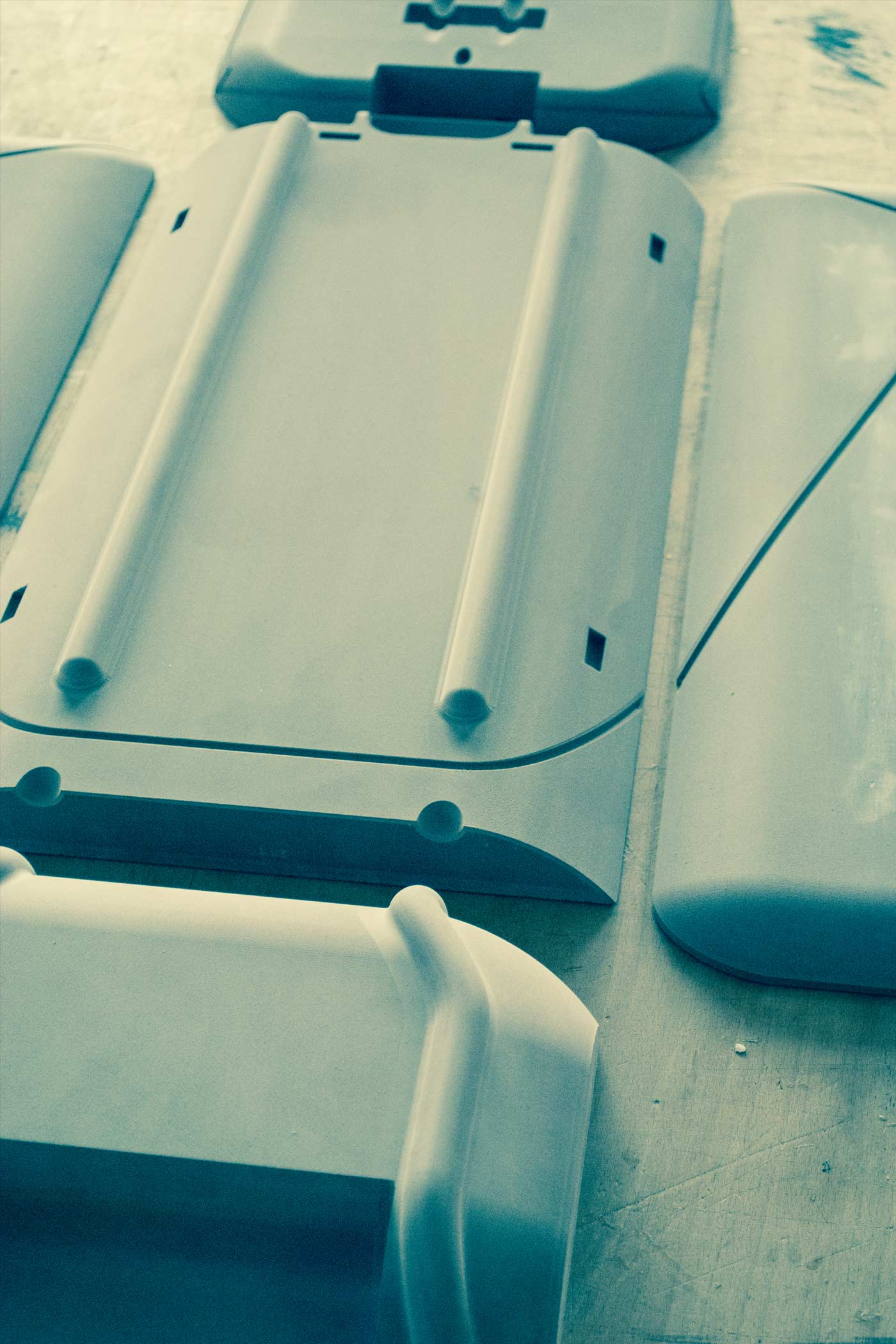 Milled parts for the Stadtkoffer mockup by WACH designstudio