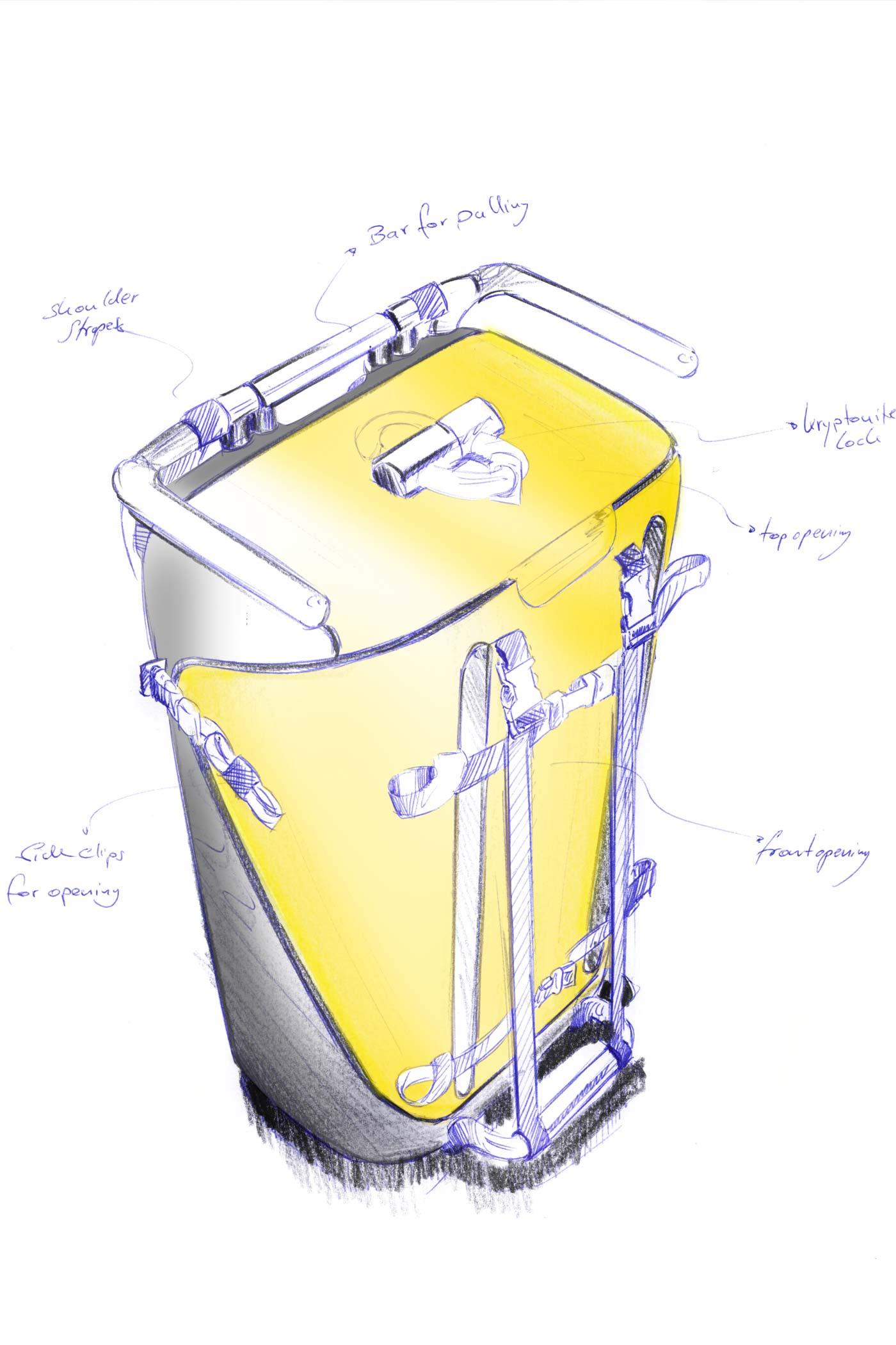 Final sketch of the Stadtkoffer by WACH designstudio