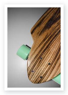 Functioning Longboard prototype by WACH designstudio topview