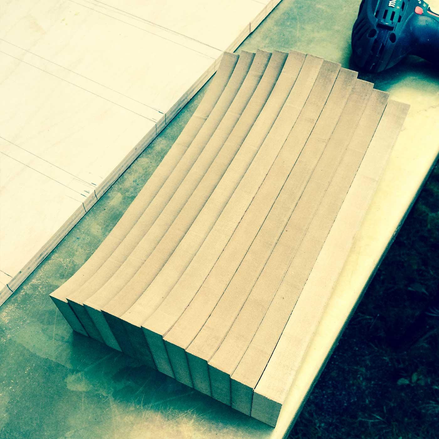 Pieces for the WACH designstudio longboard mold